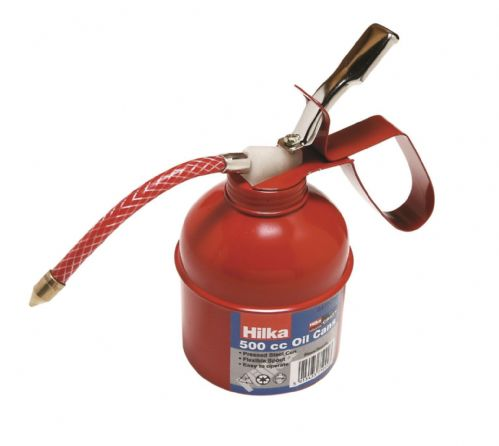 Hilka 500cc Oil Can Pro Craft  Steel can with flexible spout. 84750000